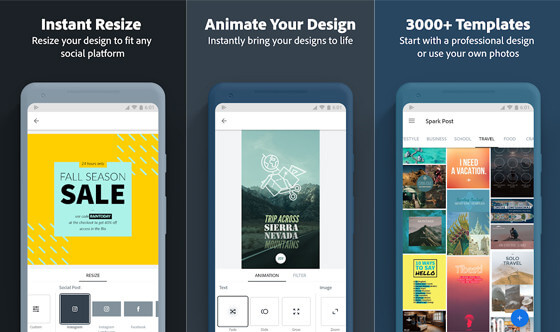 Adobe Spark Post Kumpulan Aplikasi Android Canggih Terbaru 2020