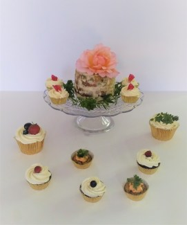 Photograph of sweet and savoury cupcakes by Cocoa & Whey Cakes in Hampshire