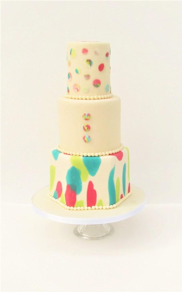 Festival Bubble & Spot Wedding Cake by Cocoa & Whey Cakes