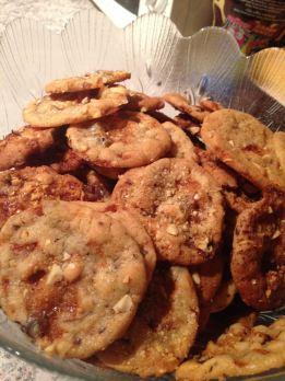 Cookies cacahuètes caramelisées et chocolat