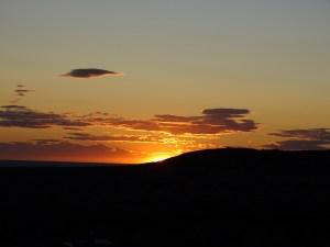 Sonne hinterm Berg