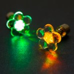 "LED auskari ""zieds"" (krāsaini)"