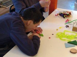 Friday 29th November, Sensory Craft – Christmas tree garlands