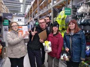 Thursday am 13th February 2020, CoCoCre8ives – B&Q.
