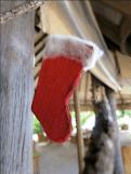 Zero waste Christmas tree decorations stocking