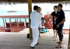 Saeed and Chiara welcome Niv and Annie to Coco Palm Dhuni Kolhu