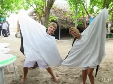 Chiara and Jesse dressed as Mantas at Coco Palm Dhuni Kolhu