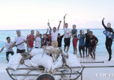 Associates of Coco Palm Dhuni Kolhu after the lagoon cleaning