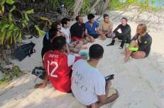 Martin and Jill training Associates at Coco Palm Dhuni Kolhu's beach