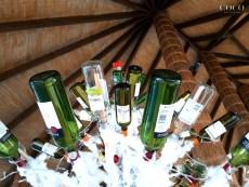 The famous glass bottles Christmas tree at Dhuni Kolhu beach bar