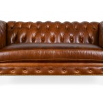 Chesterfield Tufted Leather Loveseat With Nailheads Cococo Home