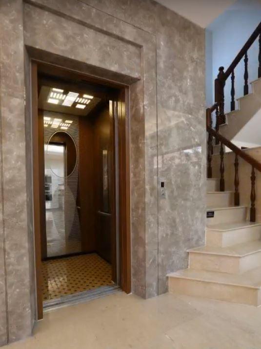 富士六人坐電梯/嚴選大理石牆面