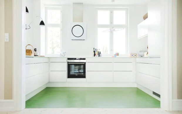 green kitchen floor smart design a friendly colorful kitchen floor cococozy 1409