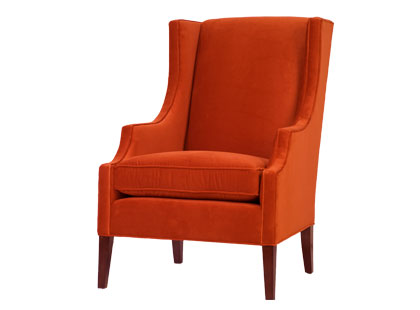 AN ORANGE WINGBACK CHAIR! | COCOCOZY