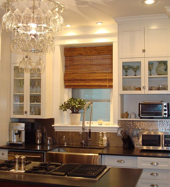 KITCHEN WEEK: A STAINLESS STEEL PENNY BACKSPLASH FOR A THOUGHT! | COCOCOZY