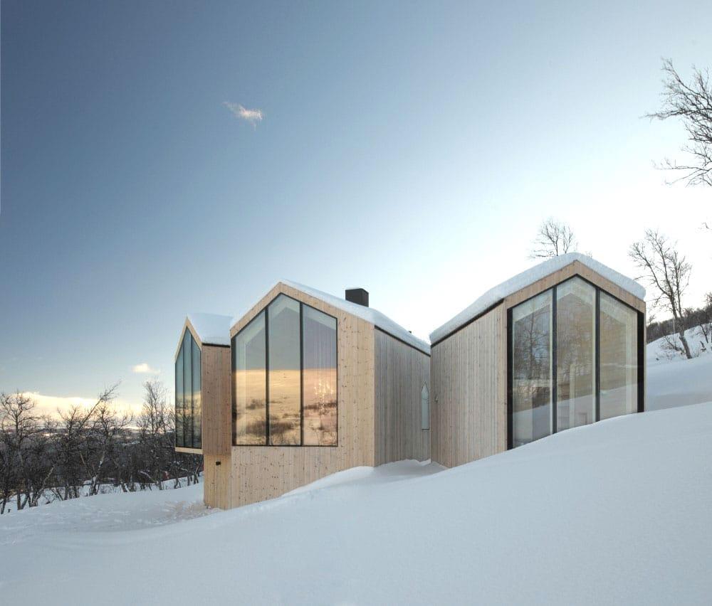 Modern Mountain Houses Snow House Exterior