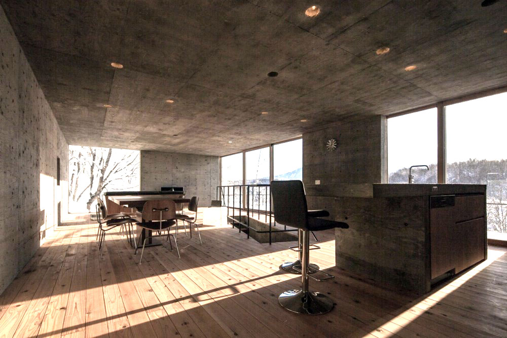 Minimalist-Concrete-Living-Area-in-Winter-cococozy