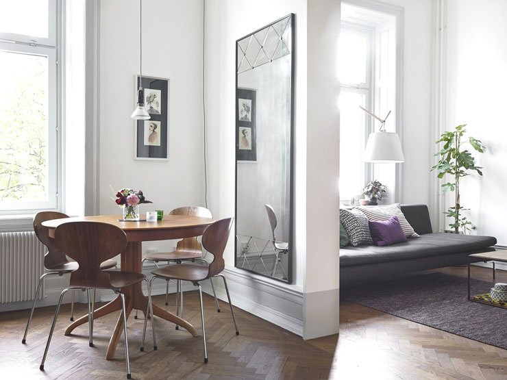 Living dining room ideas - Sweden apartment