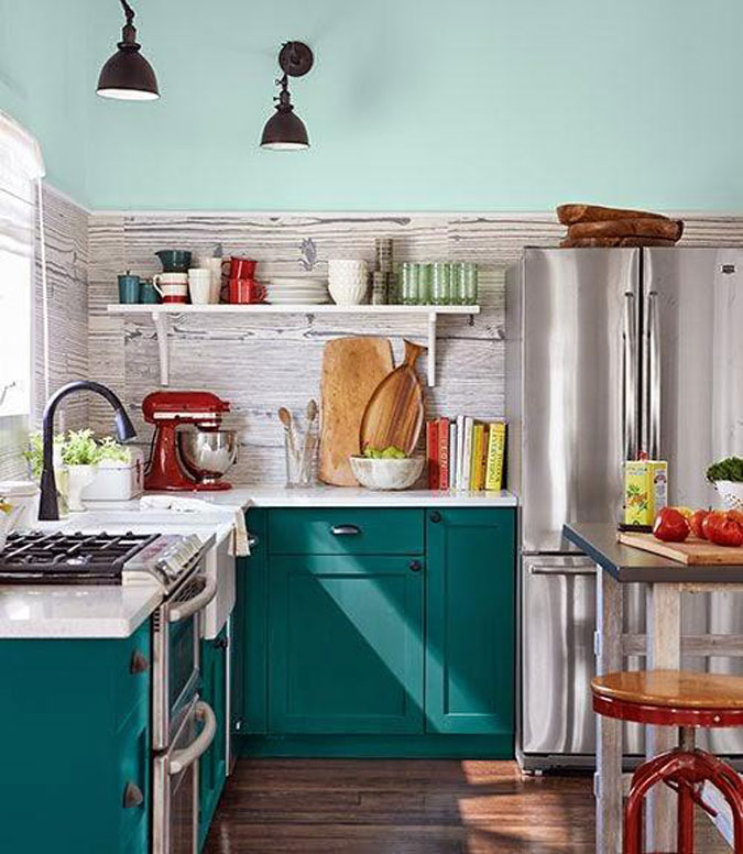Tiny Colorful Kitchens Country Living Cococozy