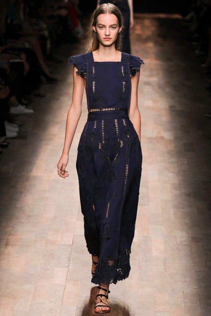 Best Dress Valentino Navy Blue Cut Out Dress