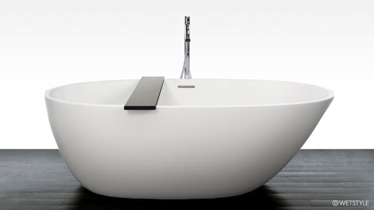 Best Freestanding Bathtubs Asymmetrical Spoon Shape Tub Wet ...