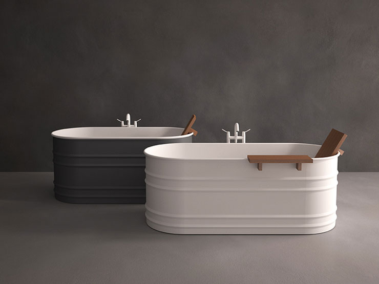 best material for freestanding tub. best freestanding bathtubs Patricia Urquiola metal white grey tubs BEST FREESTANDING BATHTUBS  SHOPPING GUIDE