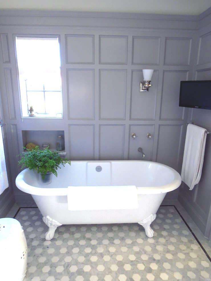 master bathroom design - classic grey