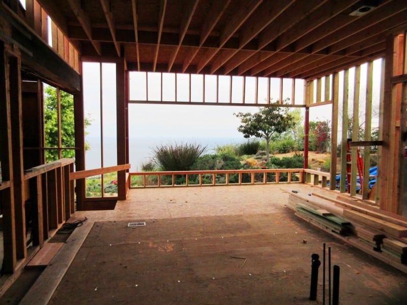 Malibu Home Remodeling Project Kitchen Framed Up