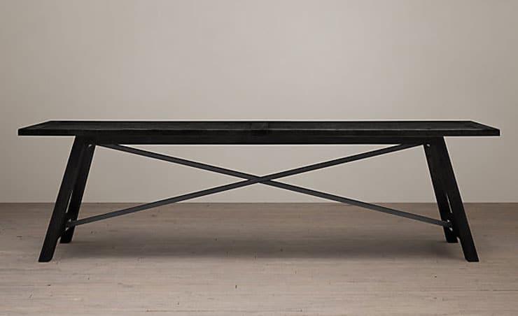 Restoration Hardware -Railway Trestle Rectangular Dining Table - $895 - $1895