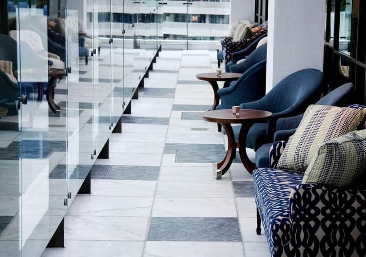 Home Renovation Kitchen Floors Aged Marble Tile Grey White