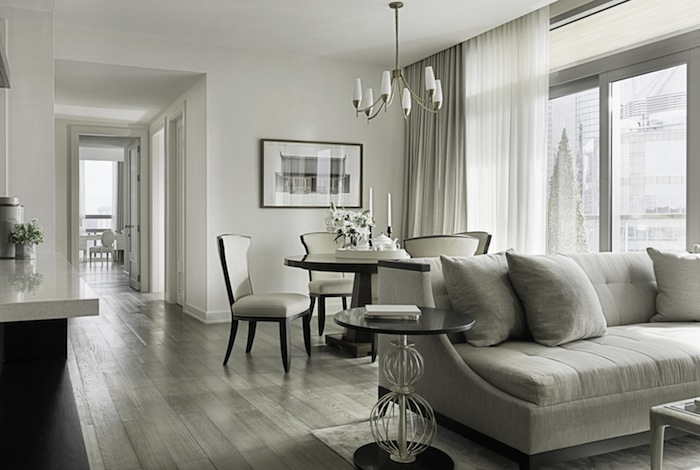 Monochromatic rooms beige living room