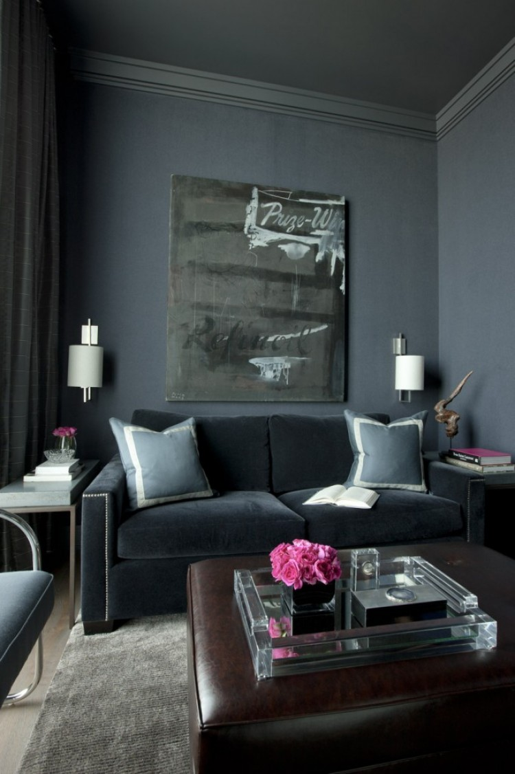 Monochromatic rooms gray den