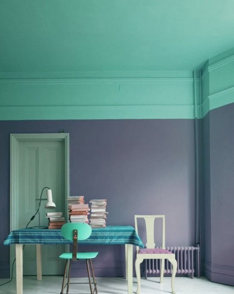 two-toned-room-purple-green-cococozy-apartmenttherapy