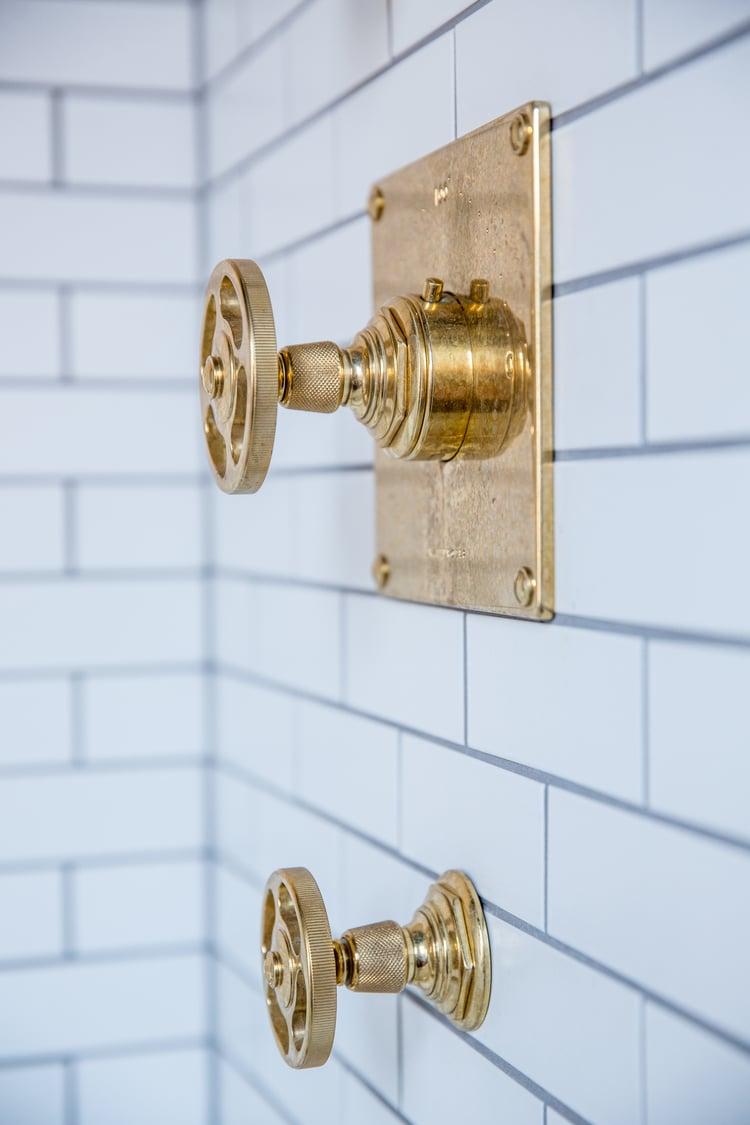 Small Bathroom Ideas Brass Shower Fixtures