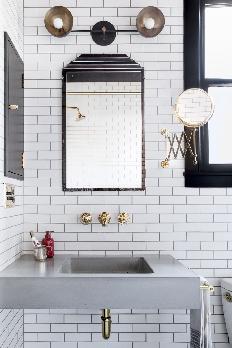 Small Bathroom Ideas In Black White Brass Cococozy