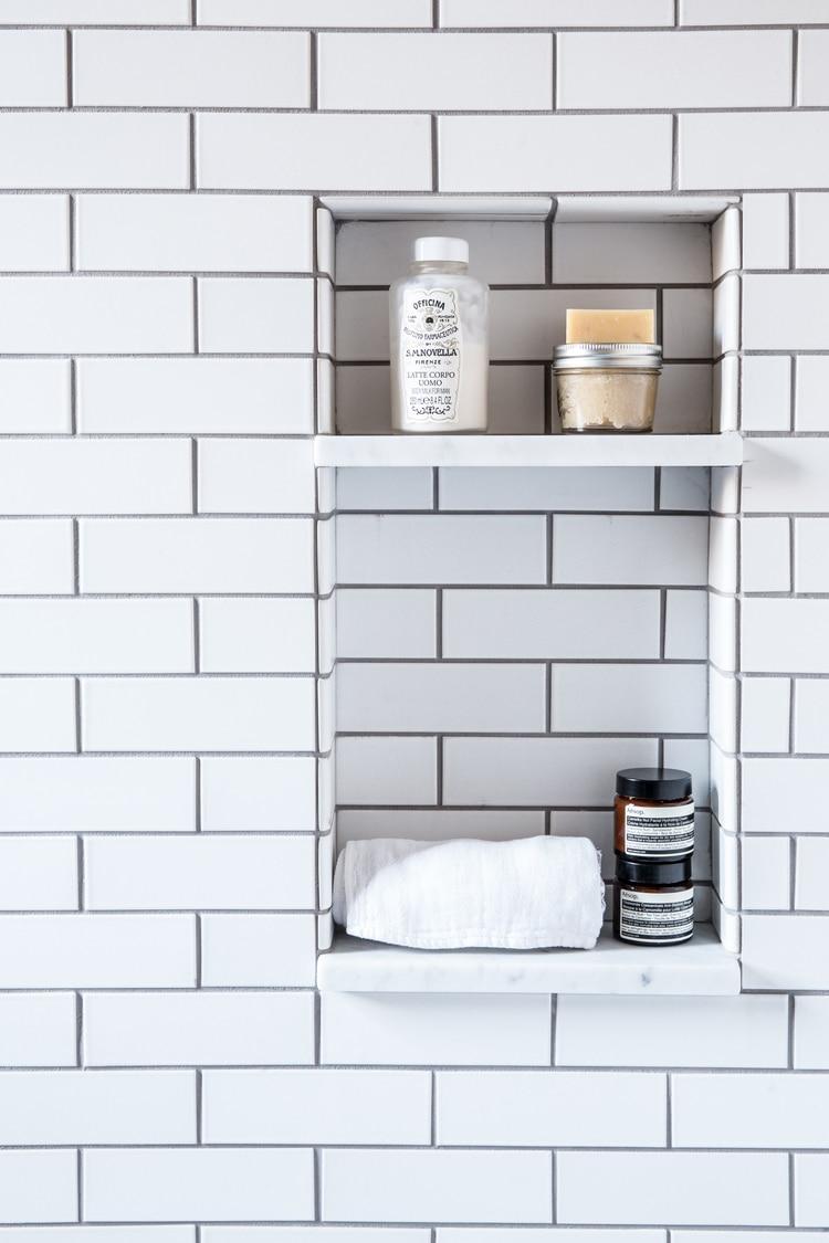 Small Bathroom Ideas Subway Tile Dark Grout