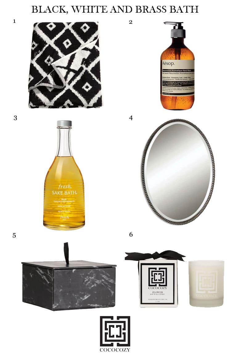Small Bathroom Ideas In Black White Amp Brass Cococozy