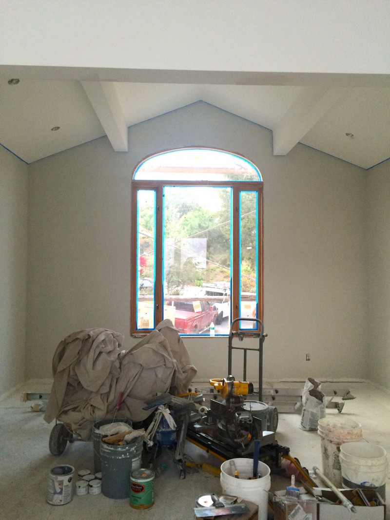 Malibu Home Renovation Den After Paint