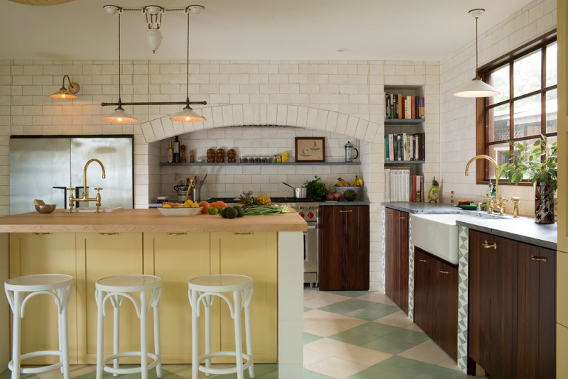 Yellow home design ideas kitchen