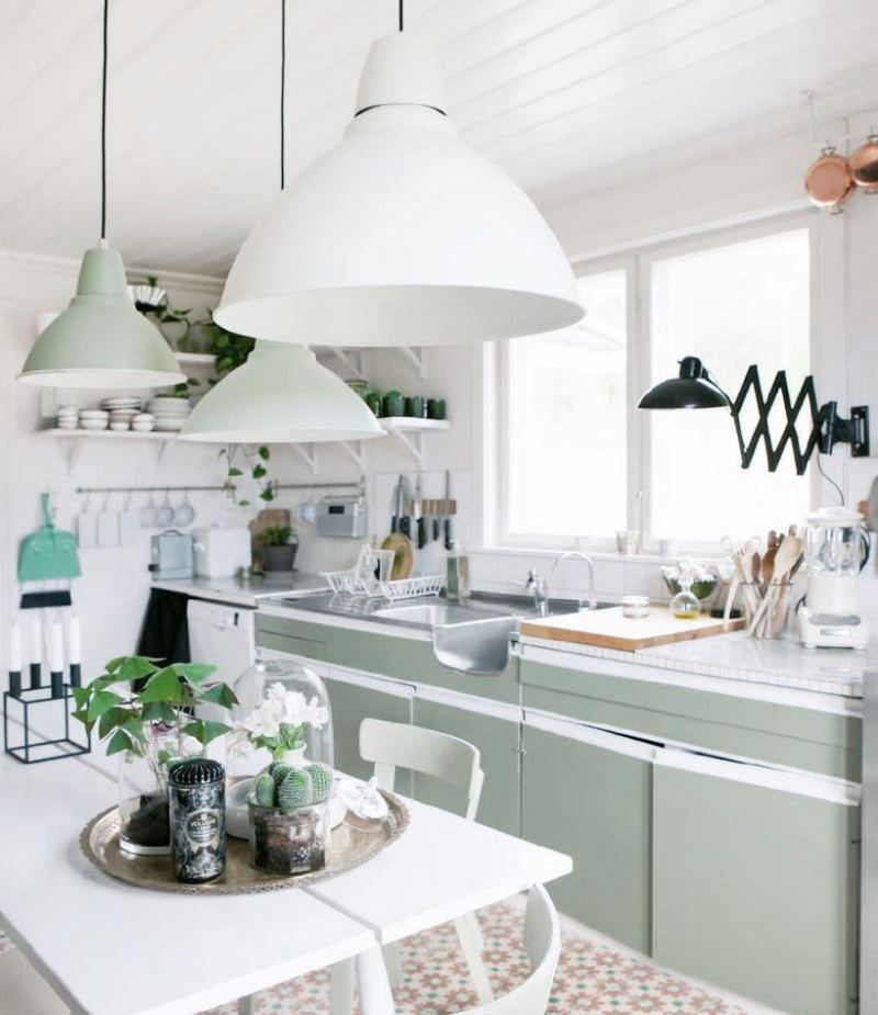 Country Kitchen Large Pendant Lights