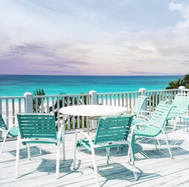 turquoise patio furniture ocean cococozy
