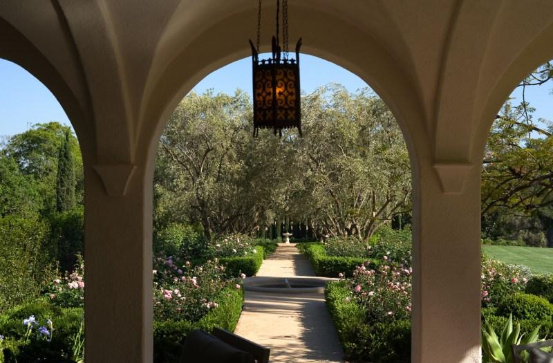 arches in a garden