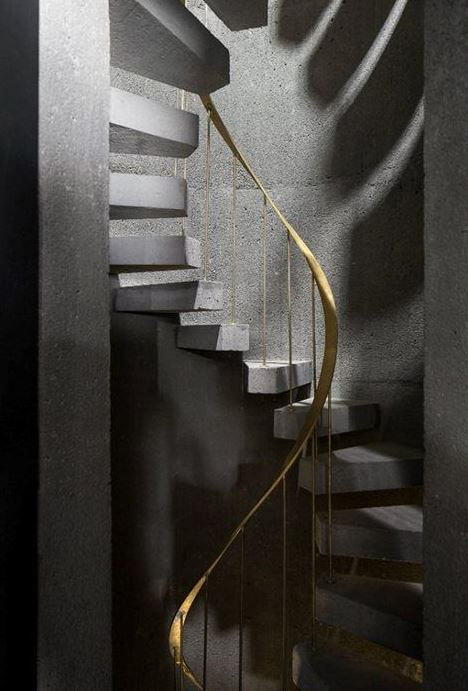 brass staircase cococozy