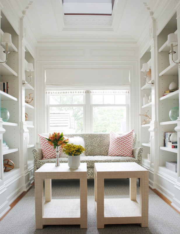 arches in a cute, cozy reading nook