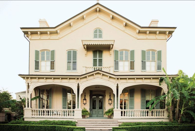new orleans exterior green shutters cococozy nyt paul sara costello