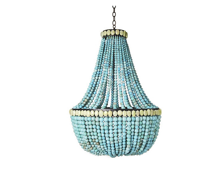 One Kings Lane -Large Empire Chandelier, Turquoise
