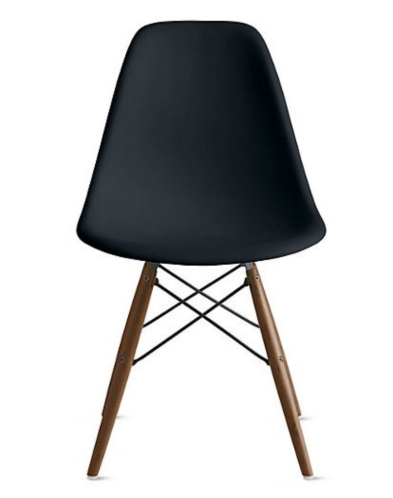 eames plastic molded chair black