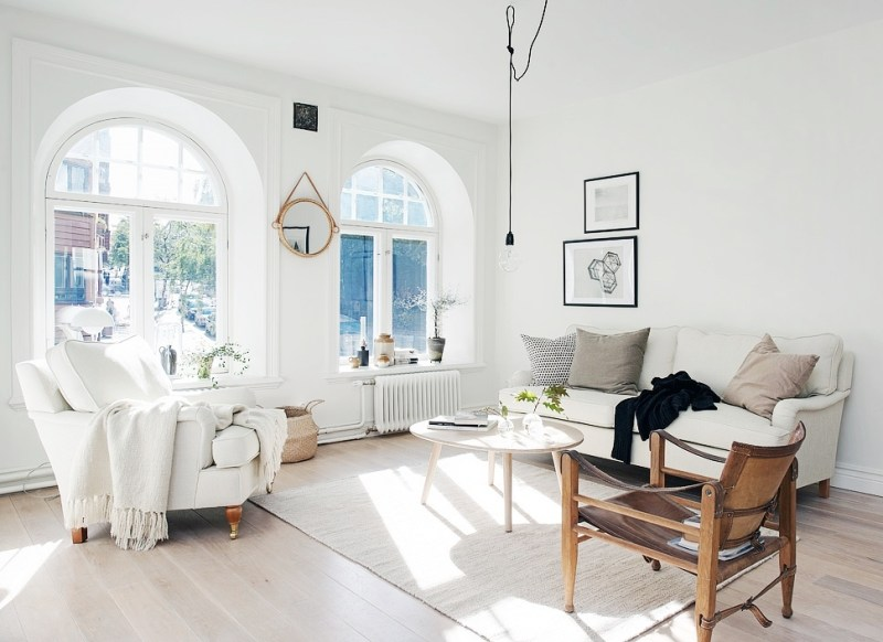 small apartment swedish style living room