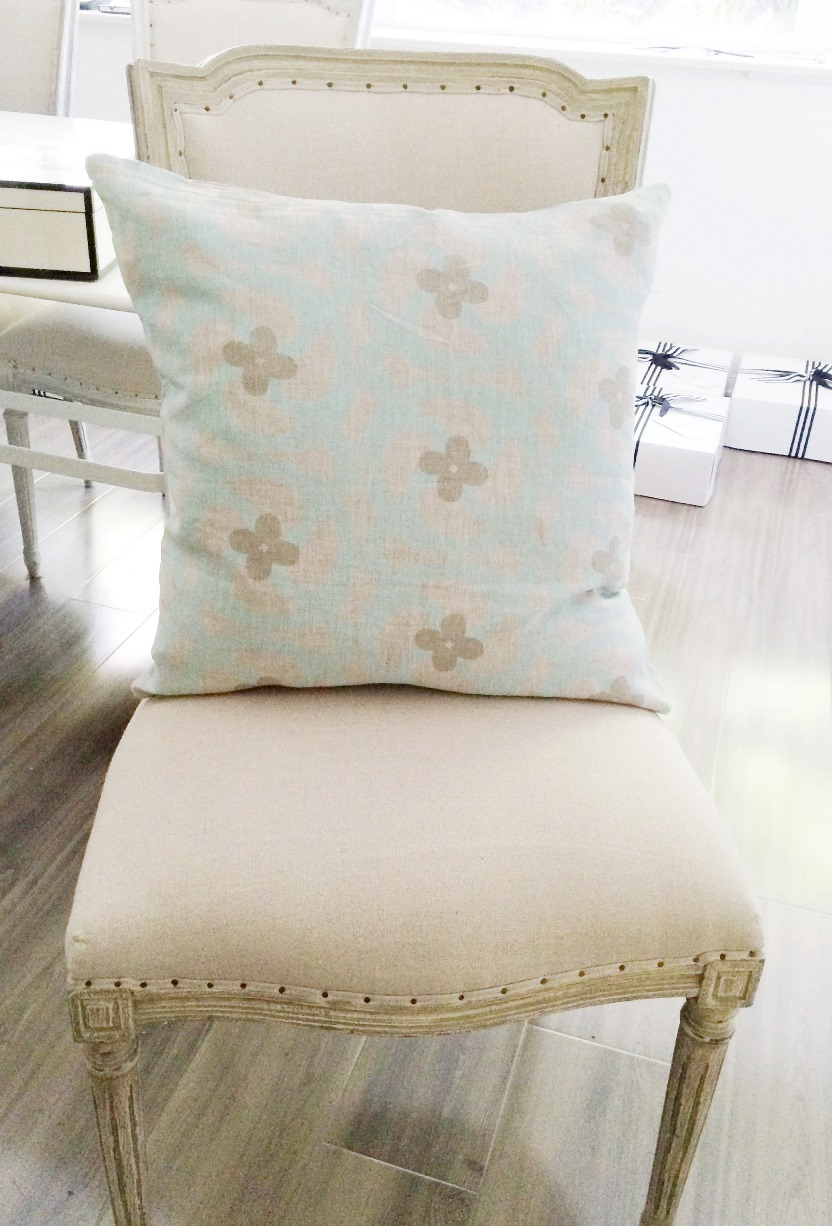 Katie Natural Linen Pillow Sea Foam Green Cyber Monday Sale