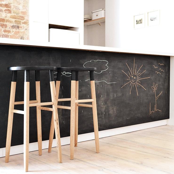 chalkboard kitchen island counter stools